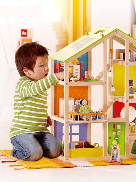 Hape Large Furnished Dollhouse Set Muticolour