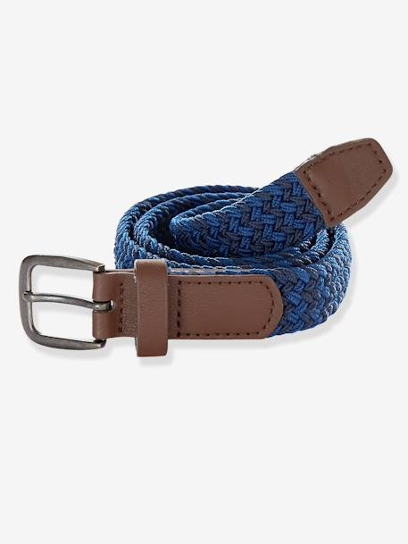 Braided Belt Grey-blue stripe