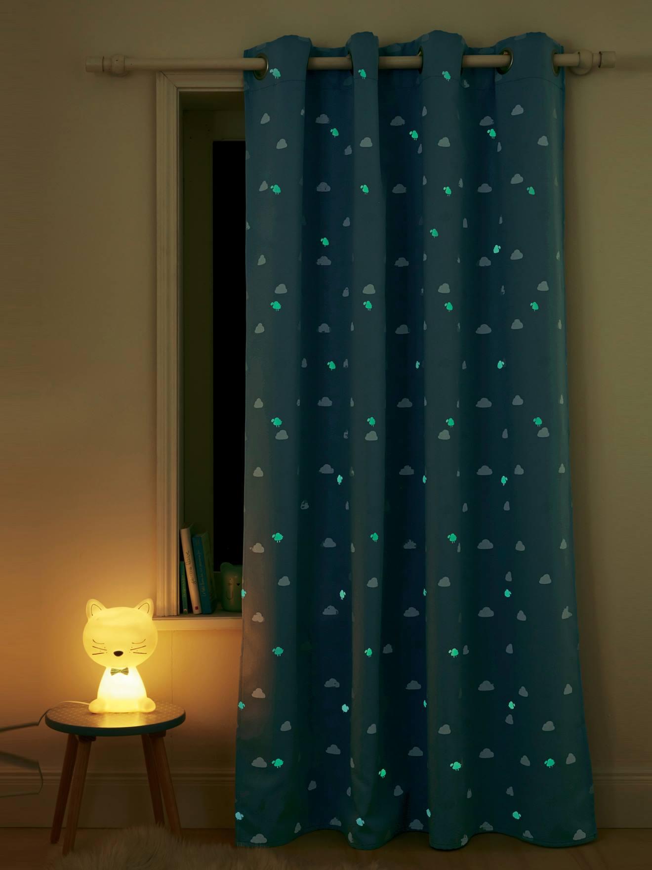 Glow In The Dark Blackout Curtain Storage Decoration