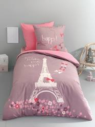 Furniture & Bedding-Duvet Cover & Pillowcase Set, A Night in Paris Theme