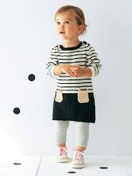Baby-Baby Striped Knitted Dress