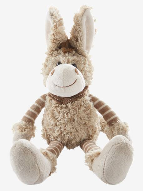 Plush Donkey Soft Toy Beige
