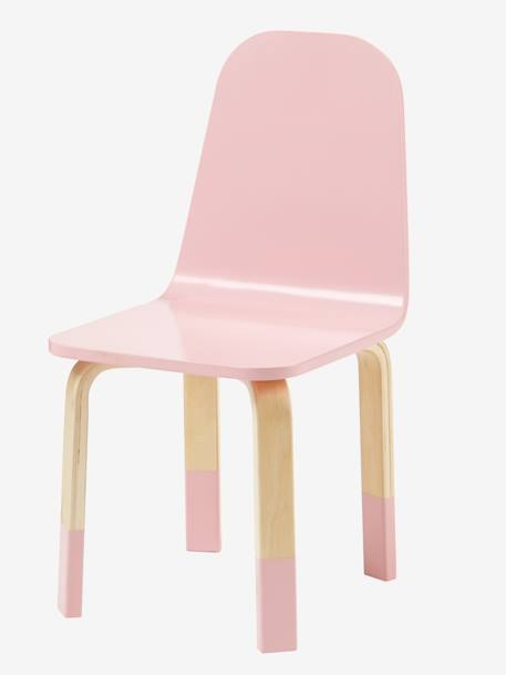Chair For Play Table Blue/wood+Wood/pink