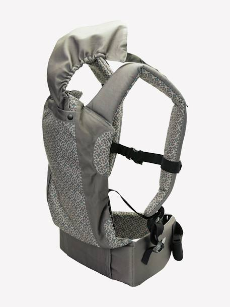 VERTBAUDET Physiological Baby Carrier Charcoal / stars+Dark grey print