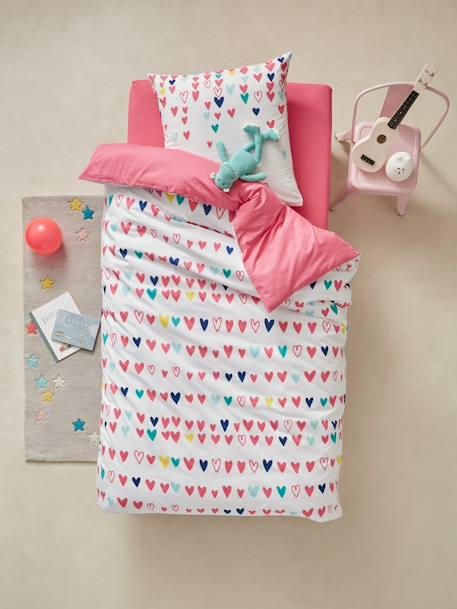 Duvet Cover & Pillowcase, Hearts Theme Heart print