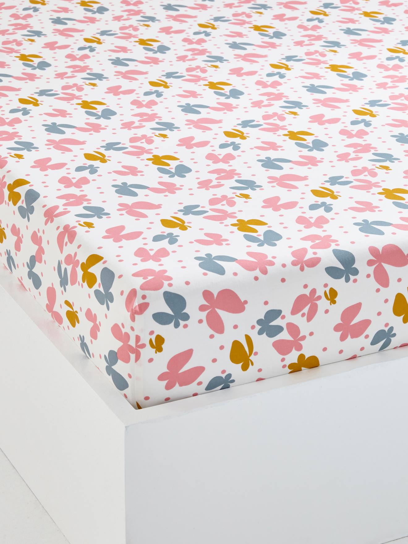 Fitted sheet pure cotton 57 thread 90 x 190 multiple colours