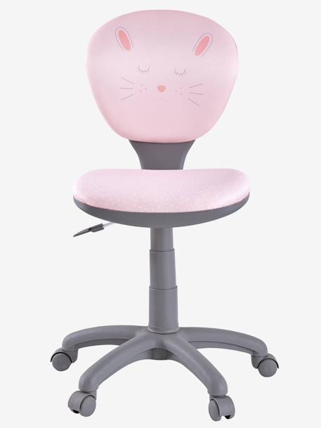 Office Chair on Wheels PINK LIGHT SOLID WITH DESIGN