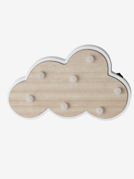 Luminous Cloud in Wood WHITE LIGHT TWO COLOR/MULTICOL