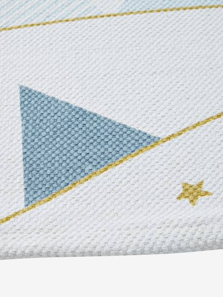Pennant Childrens Rug WHITE LIGHT SOLID WITH DESIGN