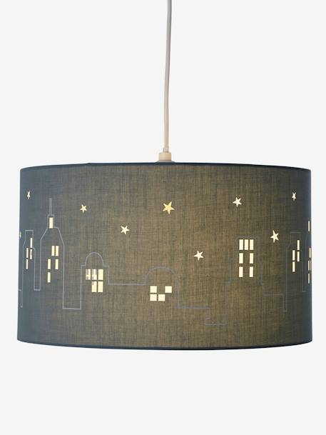 City Hanging Lampshade GREEN MEDIUM SOLID WITH DESIG