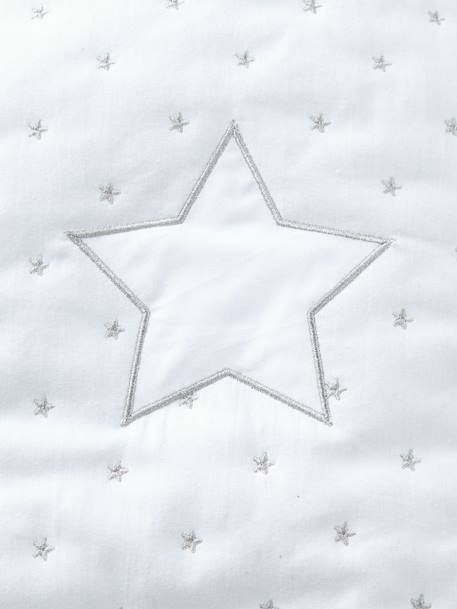 Sleep Bag with Removable Sleeves, Star Shower Theme WHITE LIGHT SOLID WITH DESIGN