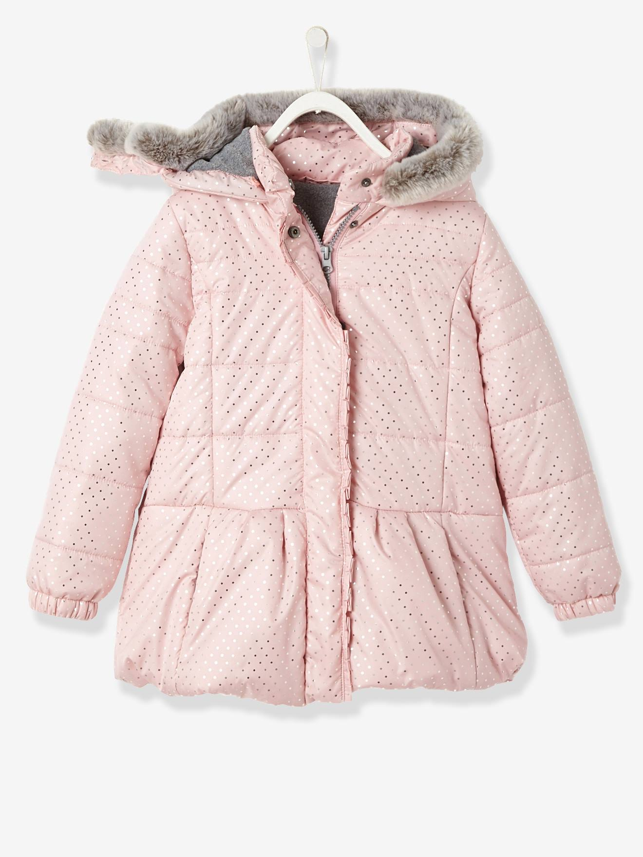 71eb4a922 Girls  Printed Hooded Padded Jacket - pink light all over printed