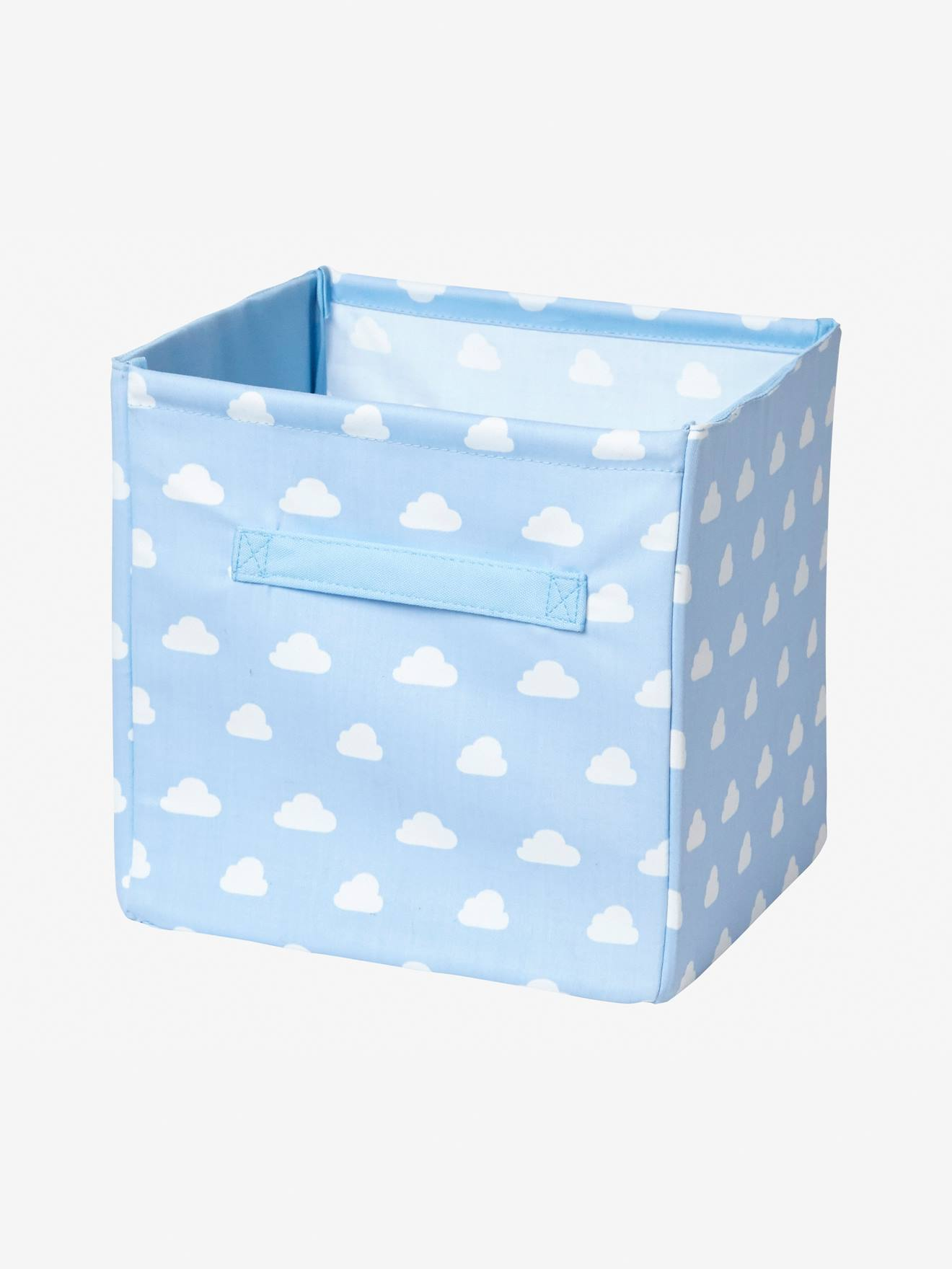 Large Fabric Storage Box BLUE LIGHT ALL OVER PRINTED+Green/stars+Grey /