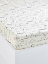 Furniture & Bedding-Child's Bedding-Children's Fitted Sheet, Dinorama Theme