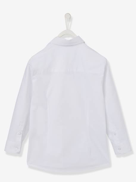Boys' Poplin Shirt WHITE LIGHT SOLID
