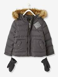 Boys' Padded Jacket with Fur Lining