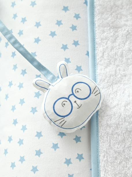 Changing Mat, Bunny BLUE LIGHT ALL OVER PRINTED