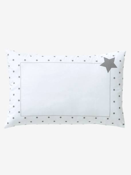 Baby Pillowcase, Star Shower Theme WHITE LIGHT SOLID WITH DESIGN