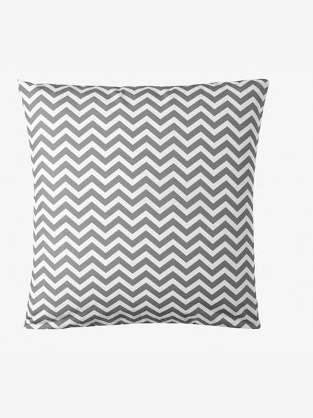 Children's Duvet Cover & Pillowcase Set, Chevron/Triangles BLUE LIGHT ALL OVER PRINTED+GREY MEDIUM  ALL OVER PRINTED+YELLOW MEDIUM ALL OVER PRINTED