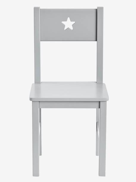 Children's Chair, Seat H. 30 cm, Sirius Theme GREY MEDIUM SOLID+PINK LIGHT SOLID+WHITE LIGHT SOLID
