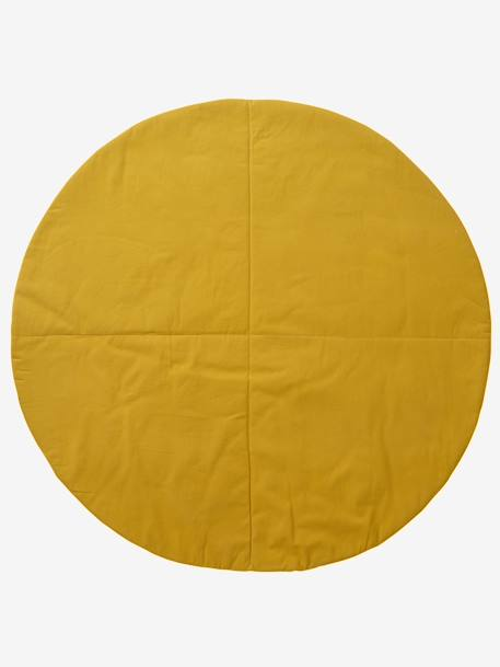 Round Mat for Teepee GREY MEDIUM  ALL OVER PRINTED+YELLOW DARK ALL OVER PRINTED