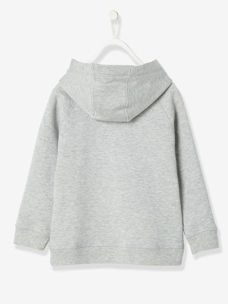 Boys' Hooded Sweatshirt BLUE DARK MIXED COLOR+GREY LIGHT MIXED COLOR