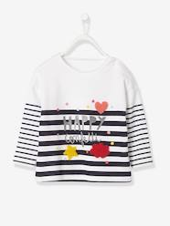 Baby-T-shirts & Roll Neck T-Shirts-T-Shirts-Baby Girls' T-Shirt with Glittery Stripes