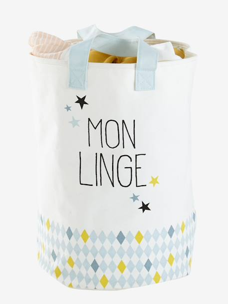 Children's Laundry Bag BEIGE LIGHT SOLID WITH DESIGN