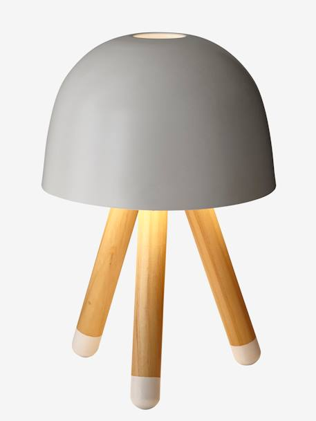 Bedside Table Lamp with Tripod WHITE LIGHT SOLID WITH DESIGN