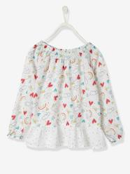 Girls-Girls' Printed Cotton Voile Blouse