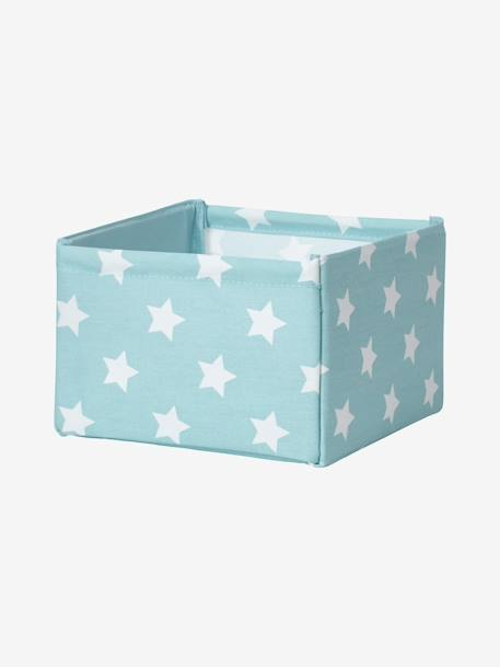 Small Storage Box in Fabric GREEN MEDIUM ALL OVER PRINTED+GREY DARK ALL OVER PRINTED+PINK DARK ALL OVER PRINTED