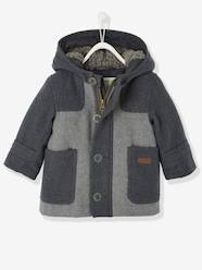 Baby Boys' Padded Duffle Coat with Warm Lining