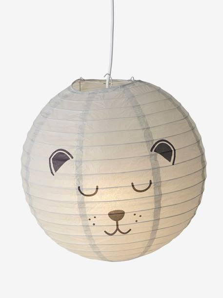 Bear Paper Ball Light GREY LIGHT SOLID WITH DESIGN