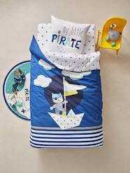 CAT LOVERS SHOP-Furniture & Bedding-Children's Glow-in-the-Dark Duvet Cover & Pillowcase Set, Tiny Pirate Theme