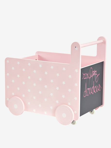 Wheeled Storage Chest PINK LIGHT SOLID WITH DESIGN