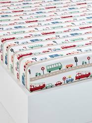 Furniture & Bedding-Child's Bedding-Children's Fitted Sheet, Auto City Theme