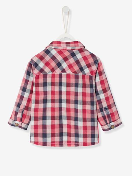 Baby's Checked Shirt GREEN MEDIUM CHECKS+RED DARK CHECKS