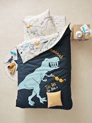 Furniture & Bedding-Children's Reversible Duvet Cover & Pillowcase Set, Dinorama Theme