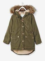 Girls' Parka with Plush Lining
