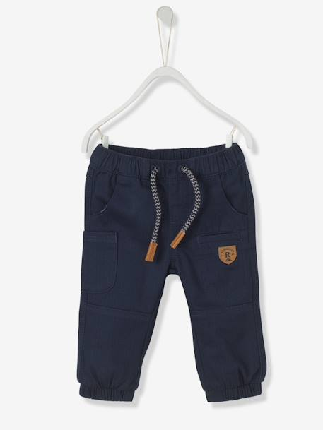 Baby Boys' Lined Chevron Trousers BLUE DARK SOLID+GREY MEDIUM SOLID