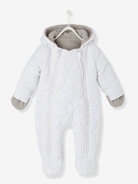 BabyPadded All-in-One with Fleece Lining WHITE LIGHT SOLID