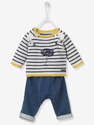 Baby-Outfits-Baby Embroidered Jumper & Jeans Outfit Set