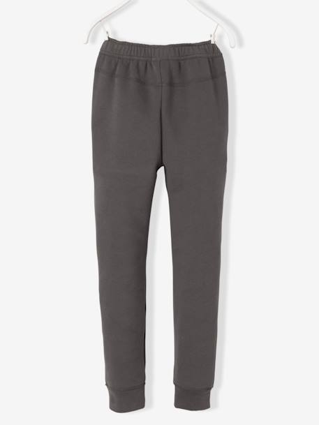 Boys' Fleece Trousers BLUE DARK SOLID+GREY DARK SOLID
