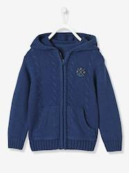 Boys-Cardigans-Boys' Lined Cardigan with Hood