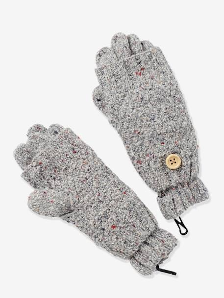 Girls' Gloves/Fingerless Gloves Set GREY LIGHT MIXED COLOR