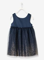 Girls-Girls' Satin & Tulle Dress