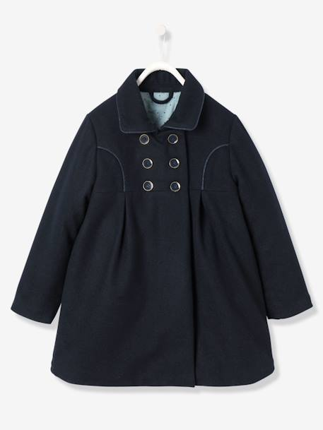 Girls' Wool Peacoat, Girls | Vertbaudet