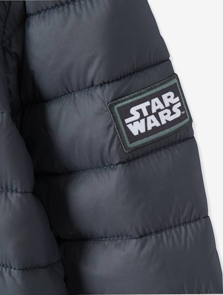 Boys' Light Jacket with Hood, Star Wars® Theme BLACK DARK SOLID WITH DESIGN