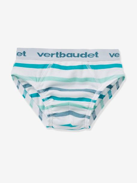 Boys' Pack of 4 Briefs GREEN MEDIUM 2 COLOR/MULTICOLR