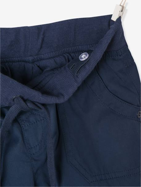 Lined Poplin Joggers BLUE DARK SOLID